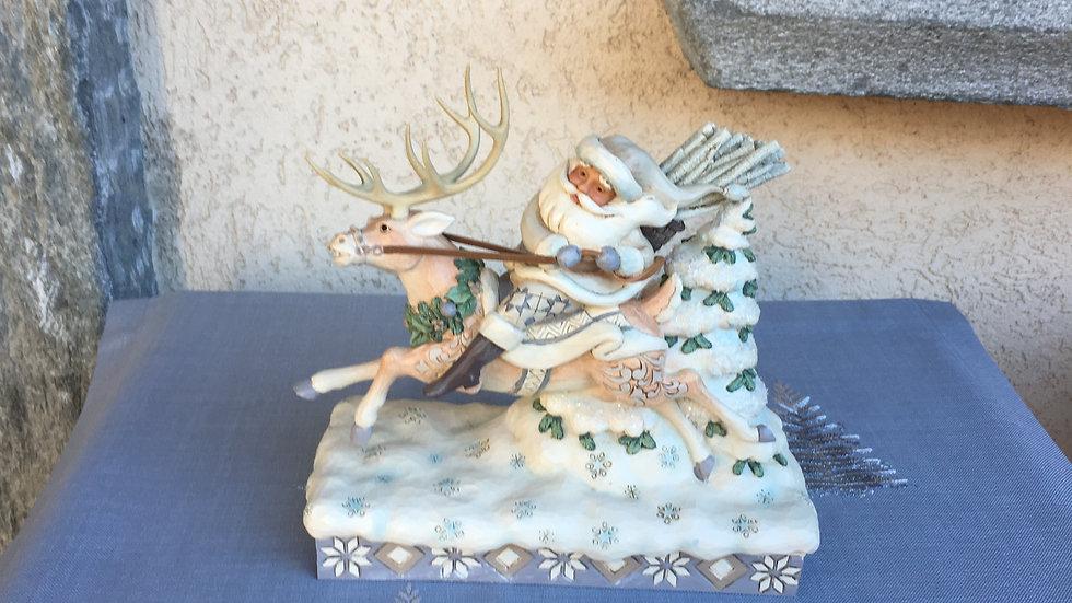 Babbo Natale su renna