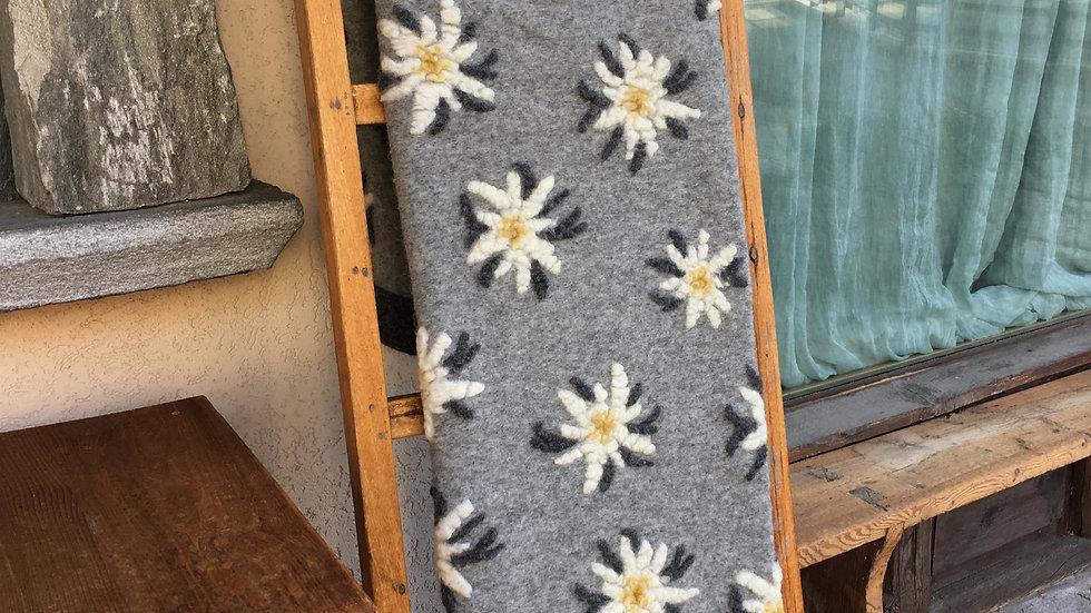Plaid in lana cotta Edelweiss grigio