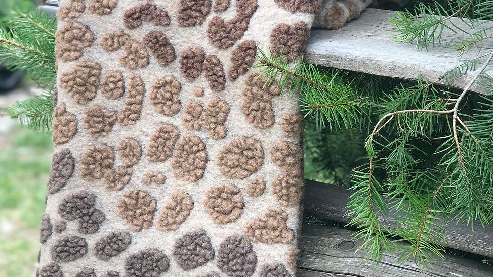 Plaid in lana maculato