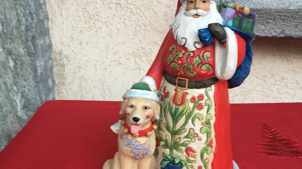 Babbo Natale con cane