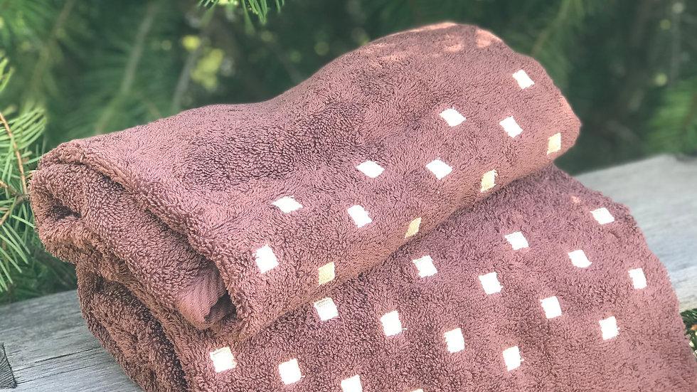 Coppia di asciugamani quadrettino