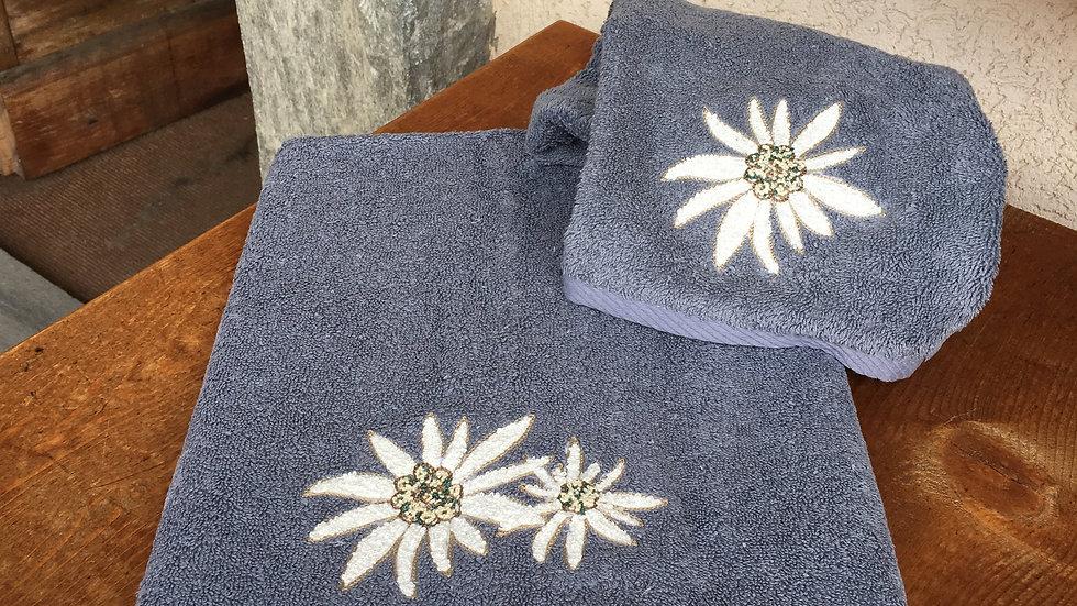 Coppia asciugamani edelweiss