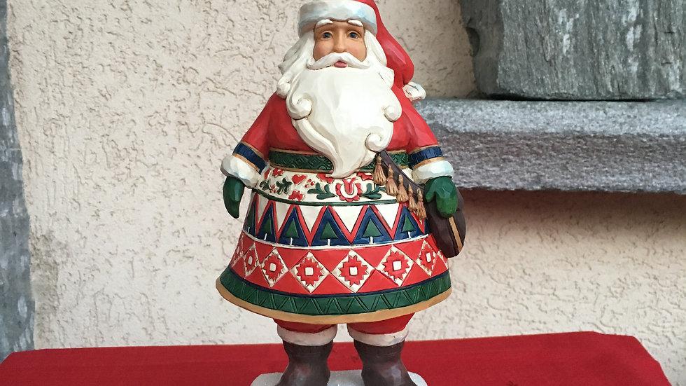 Babbo Natale su piedistallo