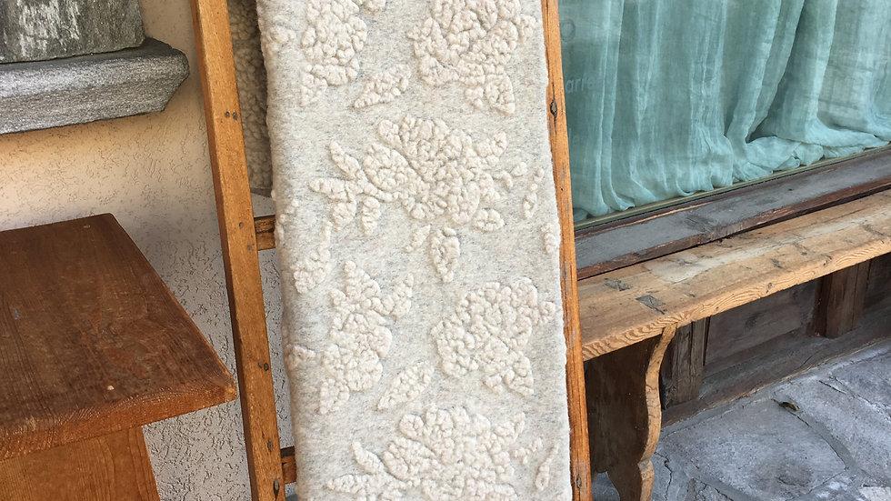 Plaid in lana cotta ecru