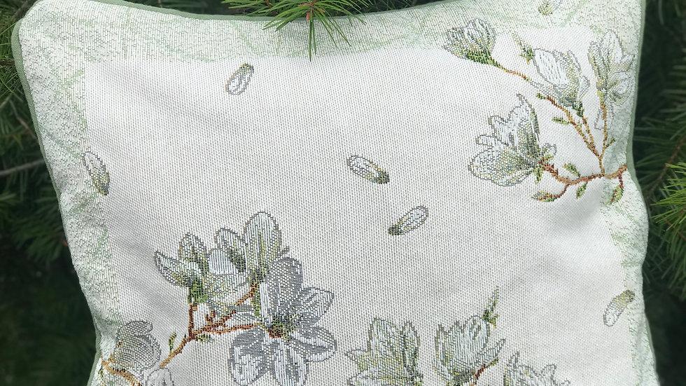 Cuscino fiori bianchi