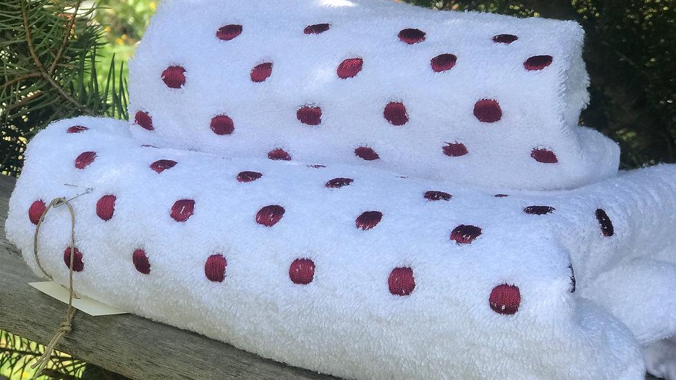 Coppia asciugamani bordeaux