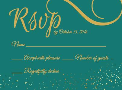 Bridal Shower Invitation Reply Card