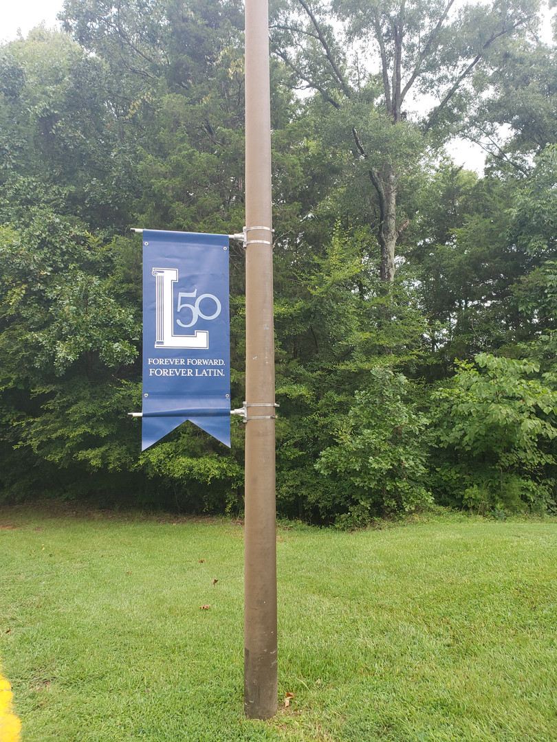 School Anniversary Light Pole Banner