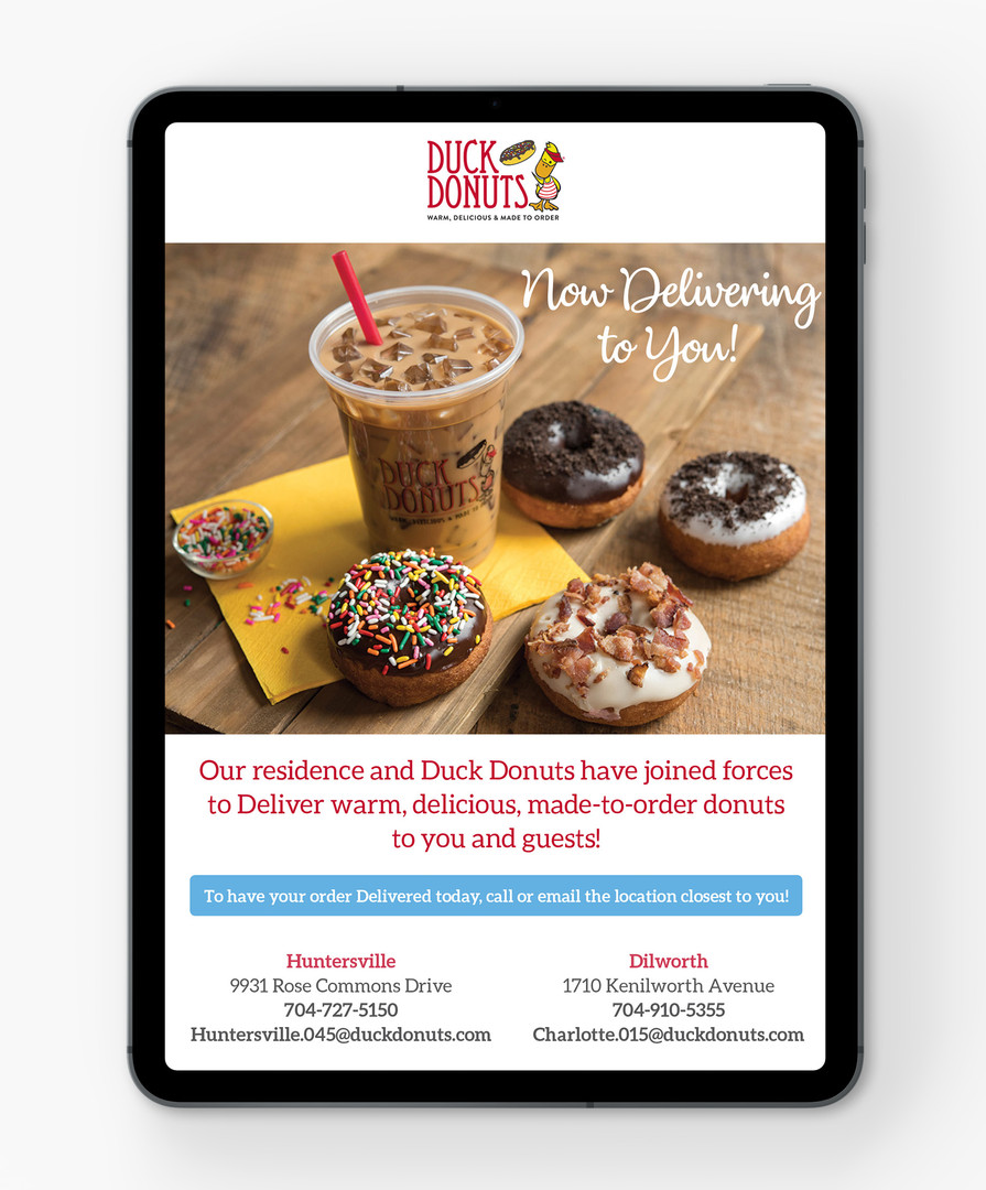 Duck Donuts Collaboration Email