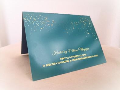 Bridal Shower Invitation Back Cover