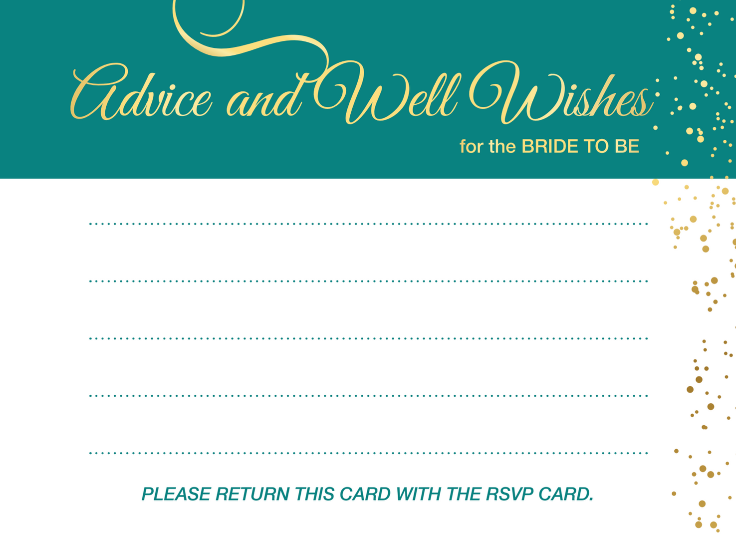 Advice/Well Wishes Card
