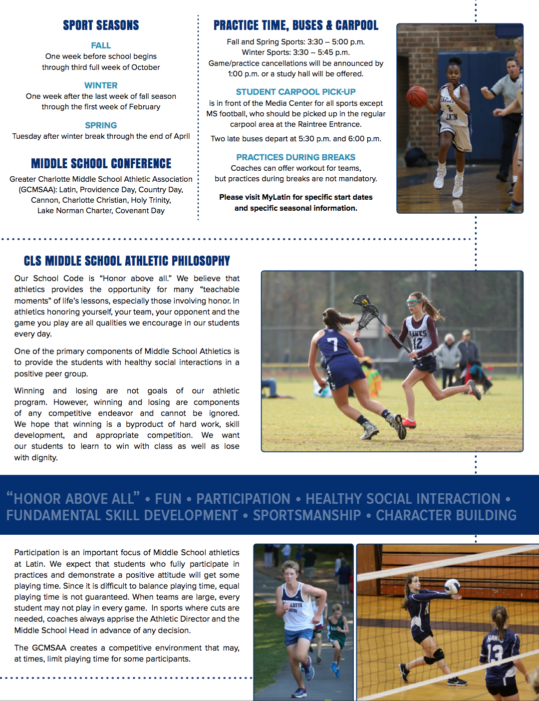 Athletics Brochure