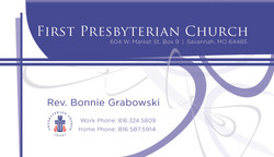 Ministry Business Card
