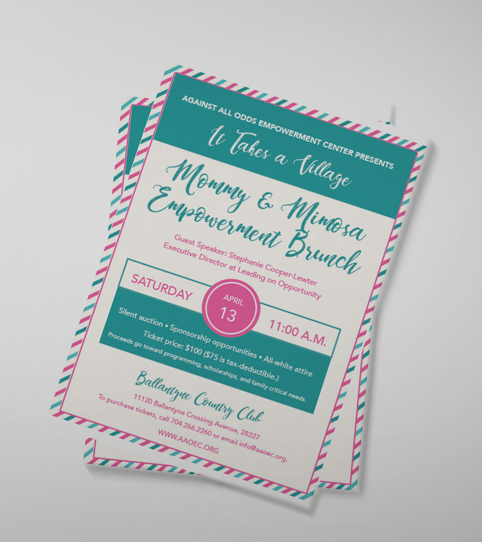 Mommy & Mimosa Empowerment Brunch Invitation