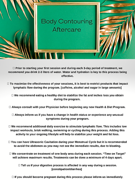 Aftercare Recommendations prior to start