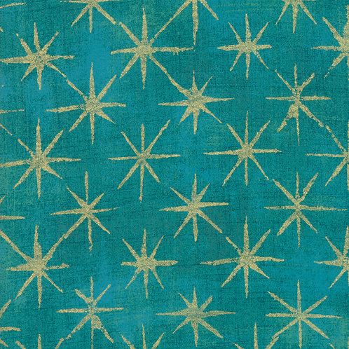 Moda Grunge Seeing Stars Metallic by Basic Grey 30148-41M 'Ocean'
