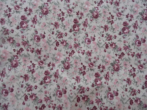 Nutex soft pink floral lightweight fabric