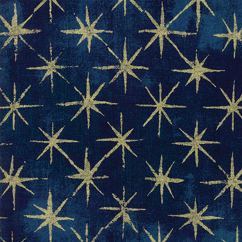 Moda Grunge Seeing Stars Metallic by Basic Grey 30148-39M 'Navy'