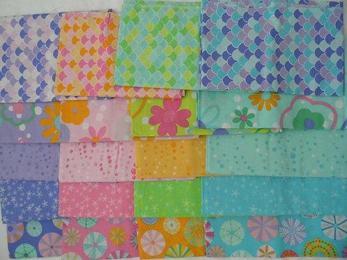 Lily & Loom 1/2 Yard bundle of Candy Splash Fabrics