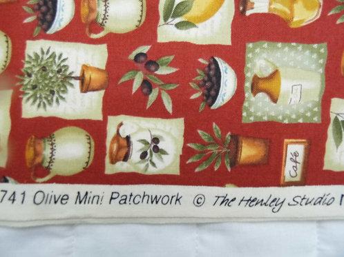 Makower Olive Mini Patchwork by Henley Studios 1 metre
