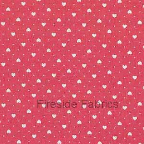 Makower Hearts fabric in pink