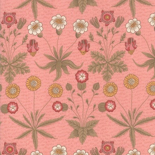 Moda Best of Morris - Spring : William Morris 'Rose' Fabric (0507)