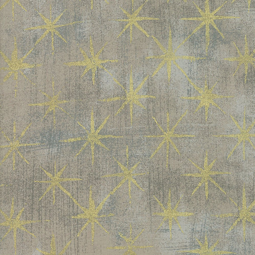 Moda Grunge Seeing Stars Metallic by Basic Grey 30148-47M 'Grey'