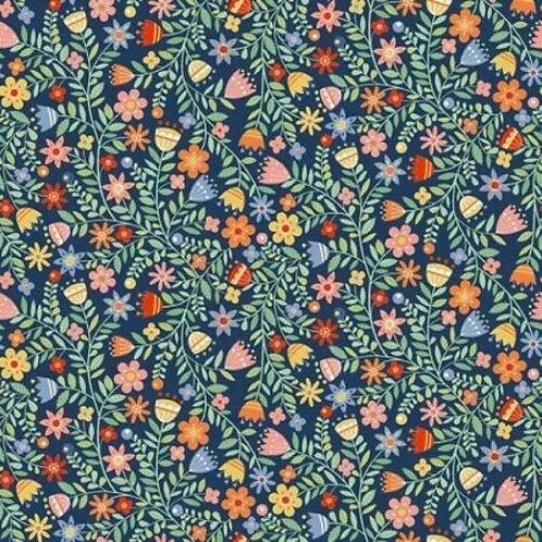 Makower Candy Cats Flowers Fabric D1726 (0578)