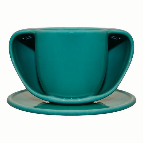 ToastyMUG Green + Saucer