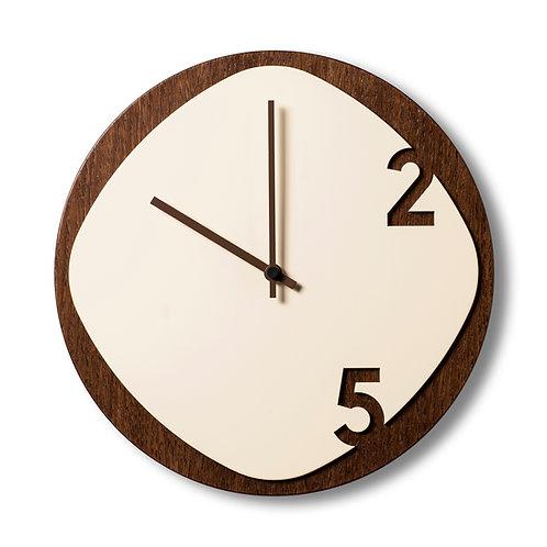 Clock25 Dark wood