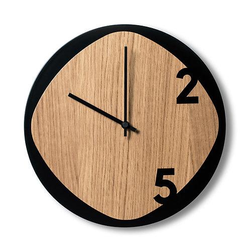 Clock25 Black/wood
