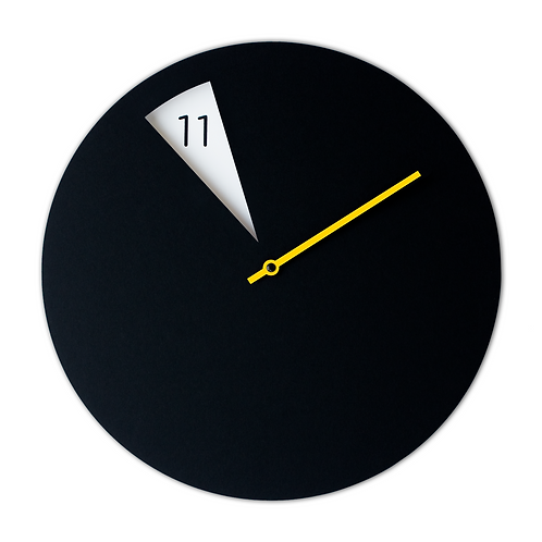 FreakishCLOCK Black/yellow