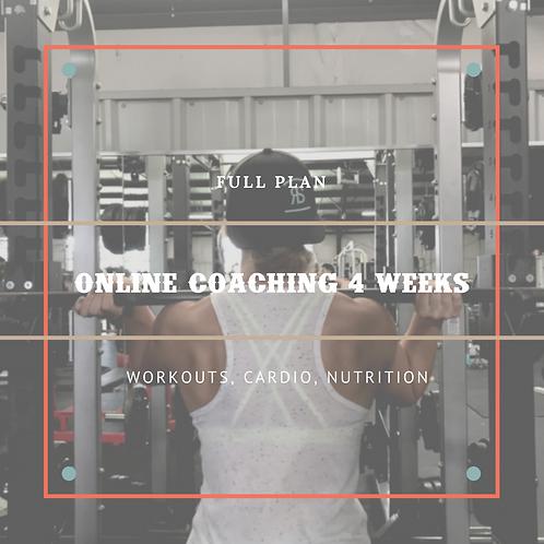 Full Online Coaching - 4 Weeks