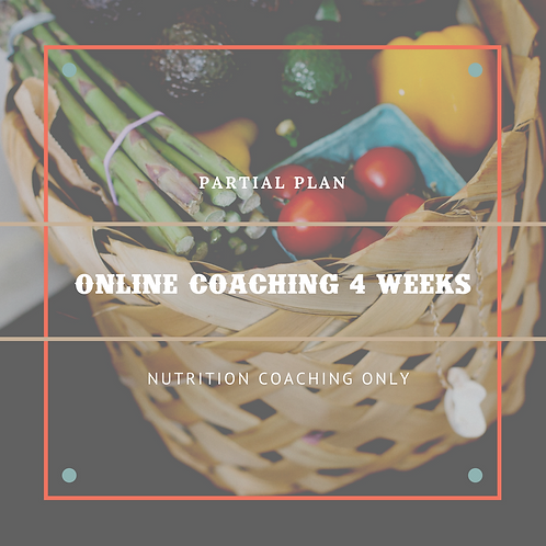 Partial Online Coaching - 4 Weeks
