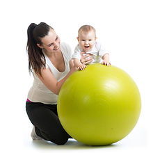 gymnastics for baby  with fitness ball.j
