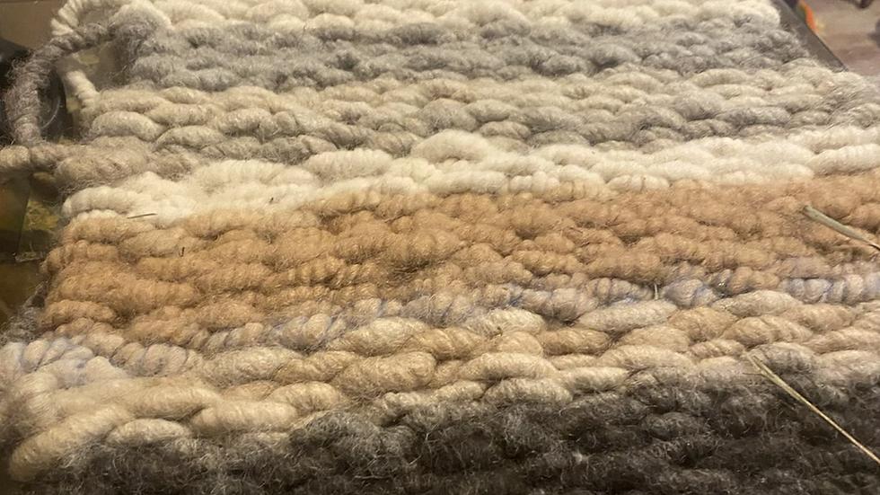 Handmade Alpaca runner -multi colored 100 -alpaca