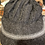 Thumbnail: Alpaca kniitted cap -purple tones and a charcoal grey