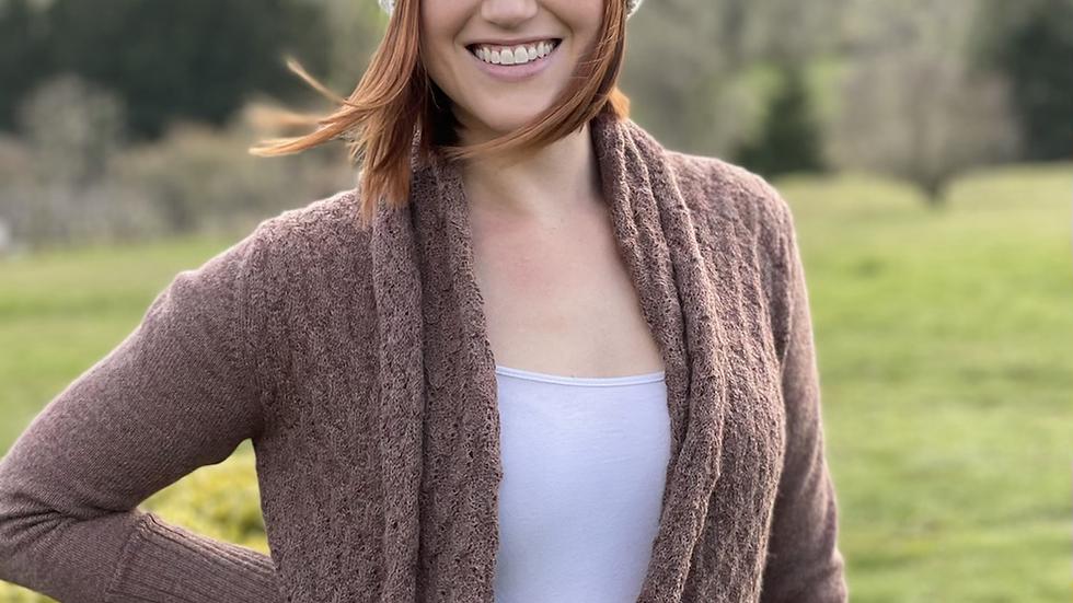Alpaca Sweater  Plum Color -Small