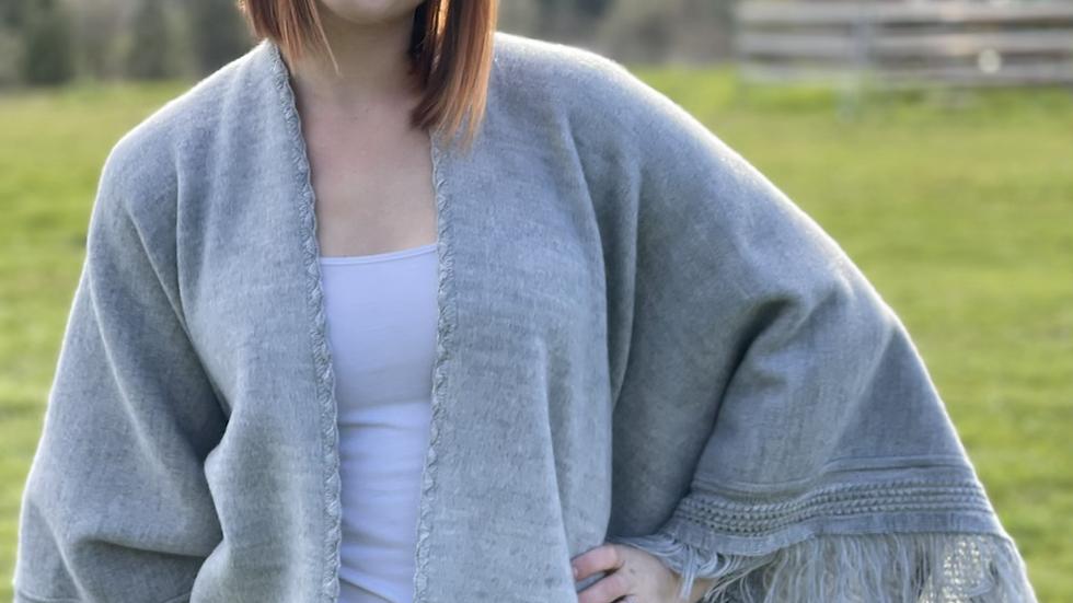Beautiful alpaca grey shawl