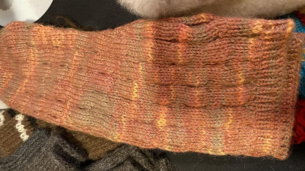 Alpaca finger warmers -pretty earth tones