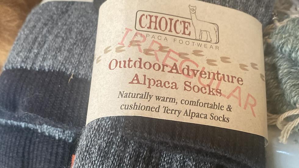 Hiker -Adventure Sock -slight irregular -large