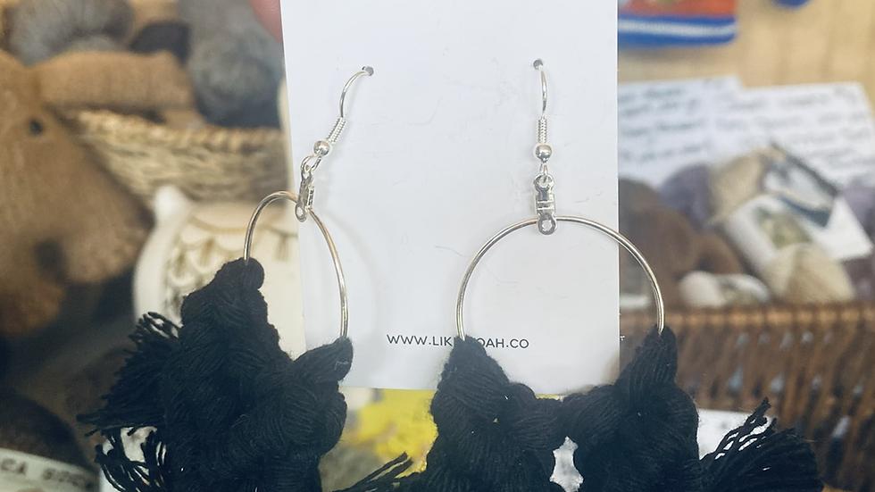 Handmade Yarn earrings Assorted Colors