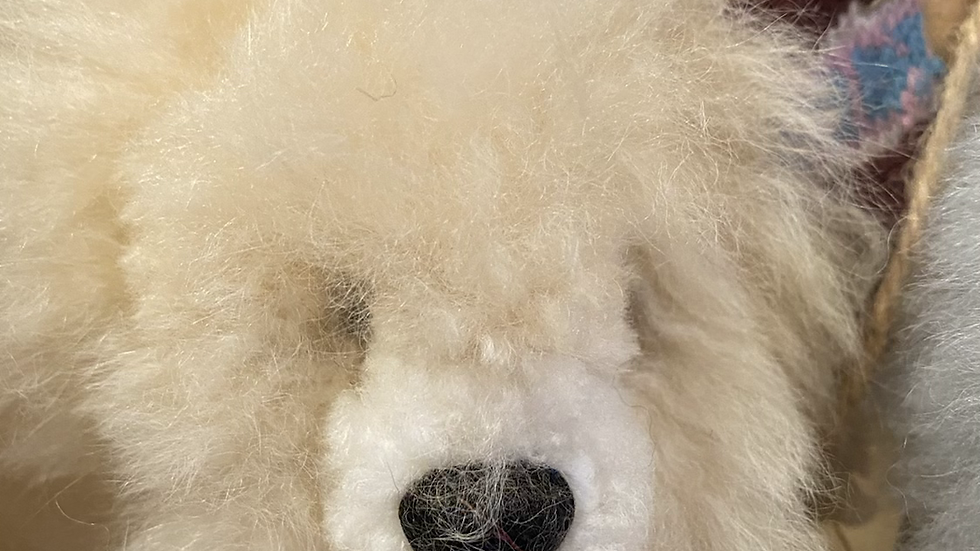 Teddy Bear key chain -Alpaca handmade Peru