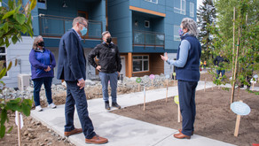 County Executive Dow Constantine tours Willowcrest affordable townhomes