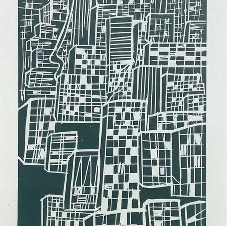 Jocelyne Danis, La ville, 2020