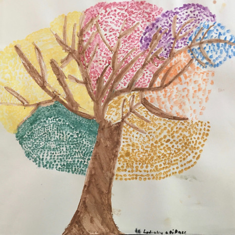 Lydia Laporte, 8 ans, L'arbre multicolore, 2020
