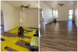 Luxury Laminate Planks Installation