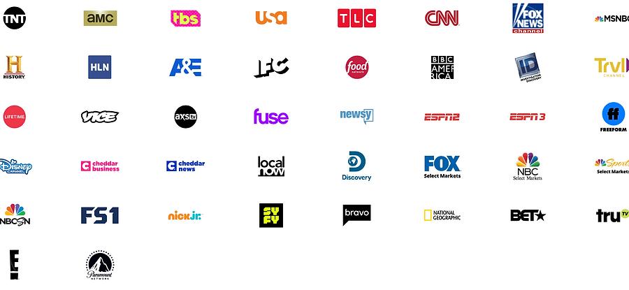 Sling TV Orange + Blue Channel Options