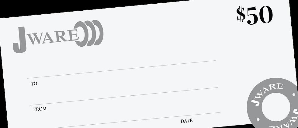 $50 Jware Gift Certificate