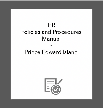 HR Policies and Procedures Manual (PEI)